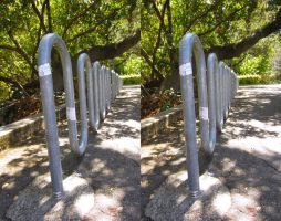 Stereograph - Bike Rack by alanbecker
