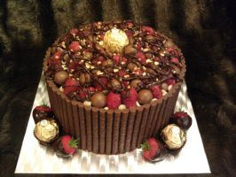 Rich Ferrero Rocher Chocolate Cake by vix4711