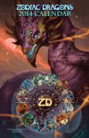 2014 Zodiac Dragons Calendar by The-SixthLeafClover