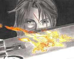 Squall Final Fantasy VIII by Tifta