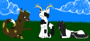 3 Friends Hanging Out by caseVIRUS