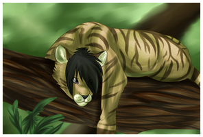 :SpeedPaint: Tree nap by Mishamutt