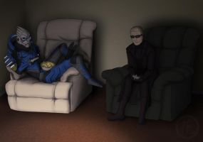 Garrus and Wesker Commission by hanaraad