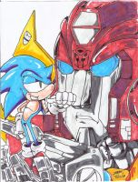 Sonic and the TRANSFORMERS by silverfan1999