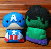 captain America and The Hulk! by Celtic-Dragonfly