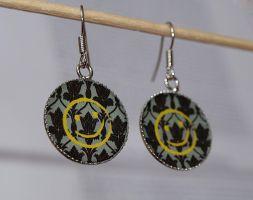 Sherlock - Smiley Face Earrings by Pia-CZ