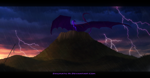 Thunder Across The Plains - Speed-Painting by Enigmatic-Ki