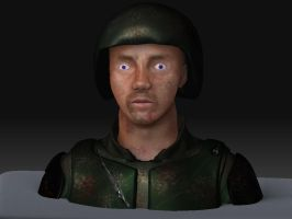 Soldier Bust 1of4 by Girilla