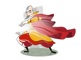 Tenzin airbending by FlashBros