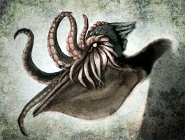 cthulhu pelican by blayrd