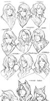 Various faces by ougaming
