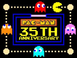 Pac-Man 35th Anniversary by PacDragon