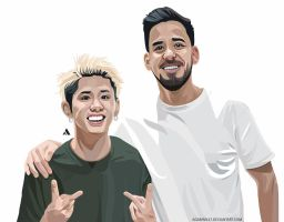 Taka OOR and Mike Shinoda (Linkinpark) by Agamnn17