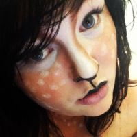 Deer makeup by Poyo-chan8