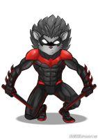 Nightwing The Hedgehog by shamserg