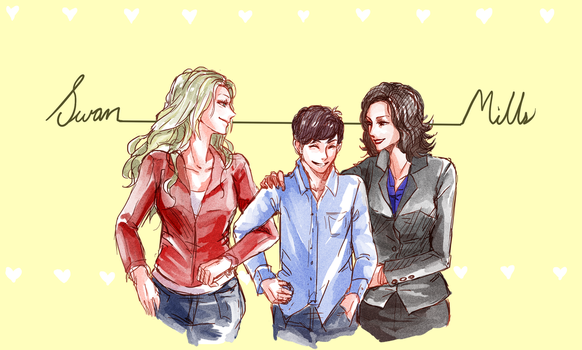 Swan Mills Family by TheCecile