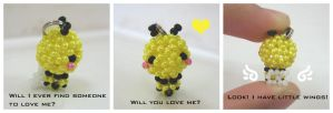 Bzzz: Lil' Beaded Bee by vivee