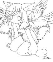 angel kitty lineart by litttle-princess
