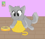 A Gray Kitten by BugglesBuggies11