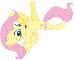Fluttershy's just got tickled by transparentpony