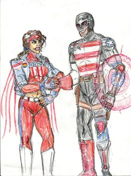America Chavez and US Agent by theaven