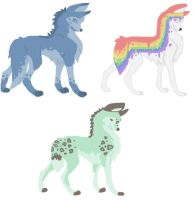 Adoptable Wolves by TigerWithWings