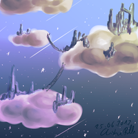 City in the clouds by SafiraCanislupus