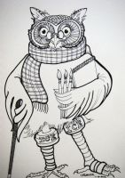 Annie as an Owl by HouseofChabrier