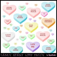 Candy Heart GIMP Brush by HippieKender