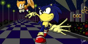 Sonic and Tails: City Night by ManualDanual