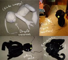 KH: Shadow Plush in Progress by Risachantag