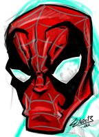 Spidey Face by ZZoMBiEXIII