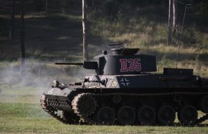 German tank engaging the Allies by RedtailFox