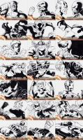 Captain America Sketch Cards I by eisu