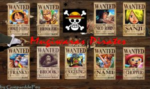Wanted Mugiwara Pirates by GueparddeFeu
