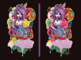 Candy Tattoo Commission by MissJamieBrown