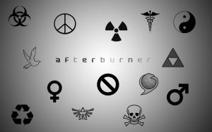 Afterburner Symbol PS Brushes by ElitistArab