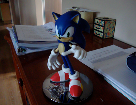 My Sonic statue by AngelofHapiness