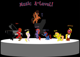 my music A-level class by flutterfanUKOFE
