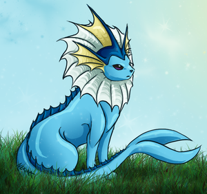 Vaporeon by Shinigami-Souls