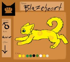 Blazeheart Ref: Warrior of Shellclan by BeadFeather