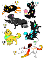 Cats Point Adoptables 6 by WarriorAdopts