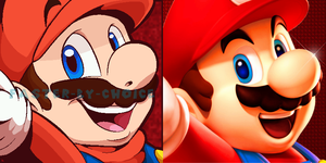 Mario Style Comparison by faster-by-choice