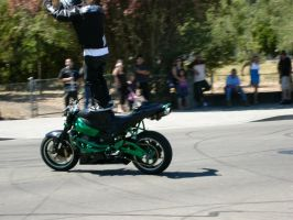 Stunt Riders at Car Show - 10 by RoadTripDog