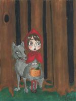 Little red riding hood by palmcastle