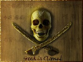 Greed Is Eternal Wallpaper by pointblankcreativity