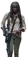 Michonne The walking dead Render by twdmeuvicio