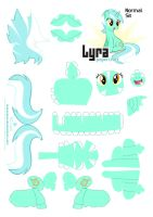 Lyra Papercraft Pattern Normal by Kna