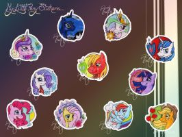 My Little Stickers by AngelOfWolves