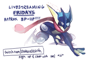 Greninja says we're scheduling streams! by Shattered-Earth